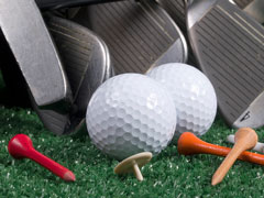 golf equipment - golf clubs, balls, tees